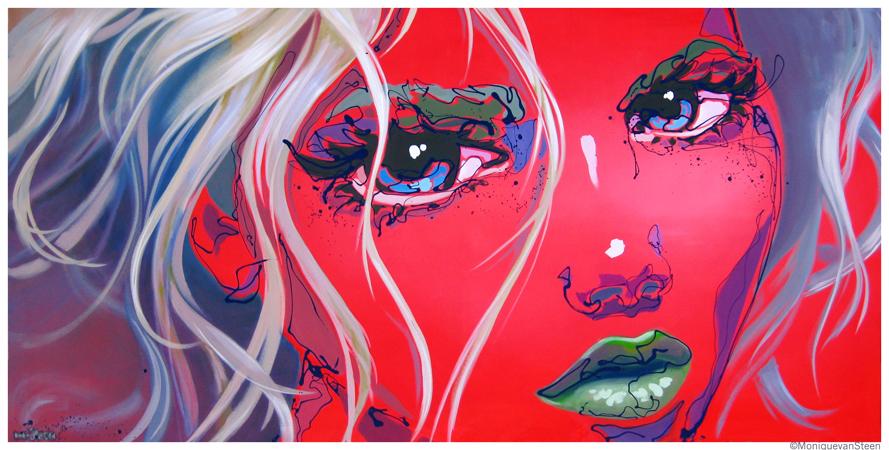 modern girl's faces in art