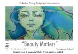 Vernissage invitation of the art exposition Beauty Matters, Hotel Pacha 2014