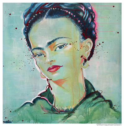 Tribute to Frida Kahlo, 81x81cm, to be seen in Queensland, Australia