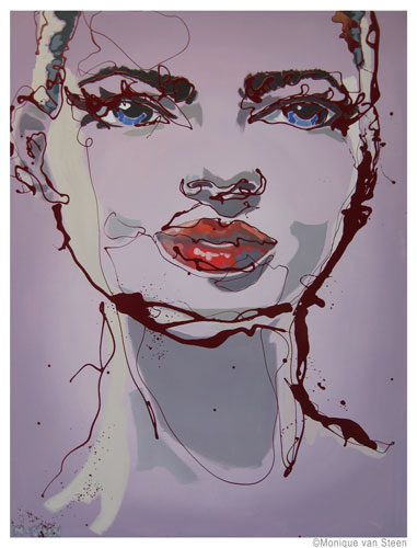 Lovely, soft portrait in urban style. Title: Dexamene. 97 x 130 cm. To be seen in Hollland