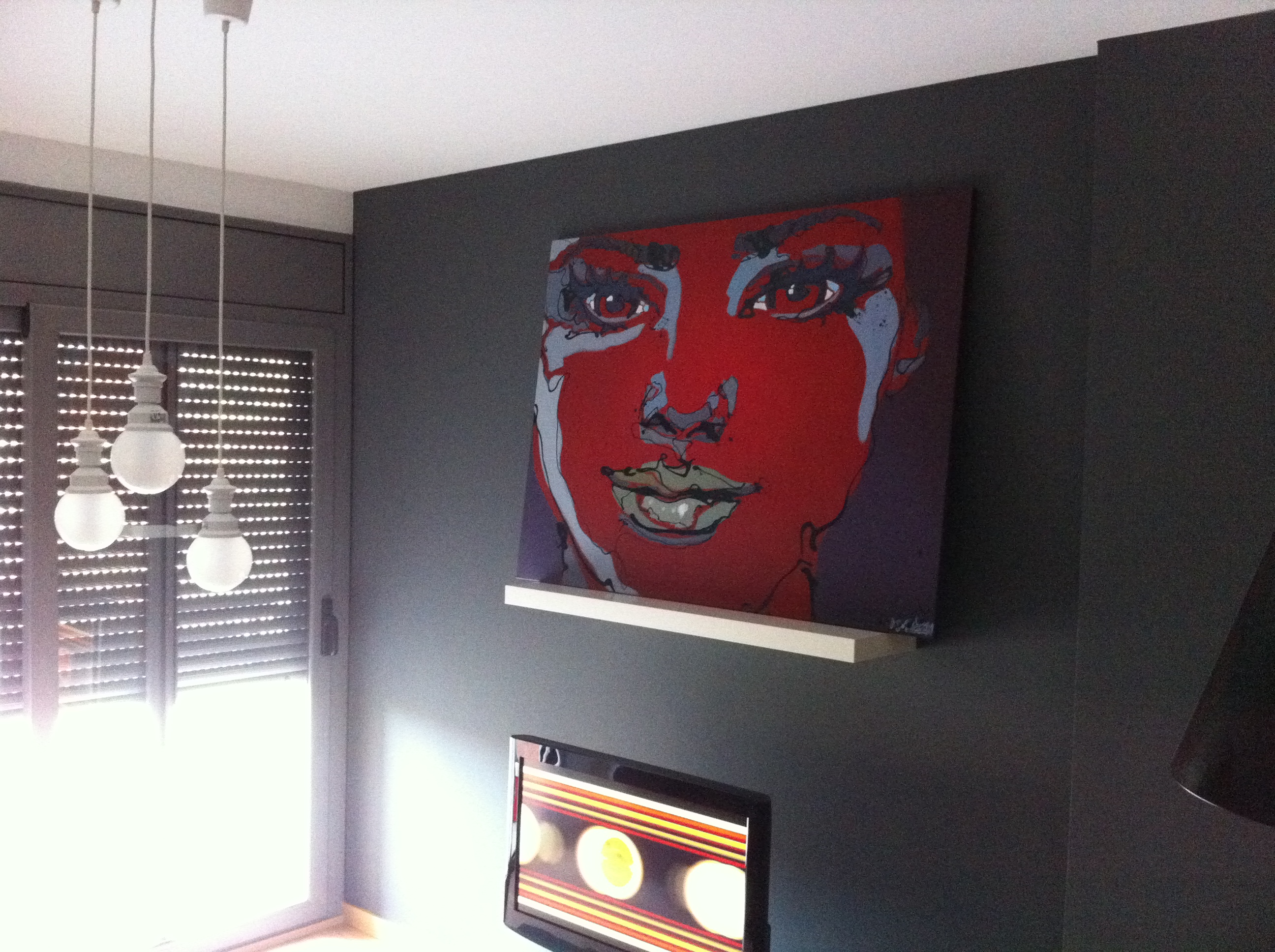modern painings in real interiors
